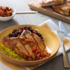 Saucy Salsa Ribeye Bone-In Pork Chops