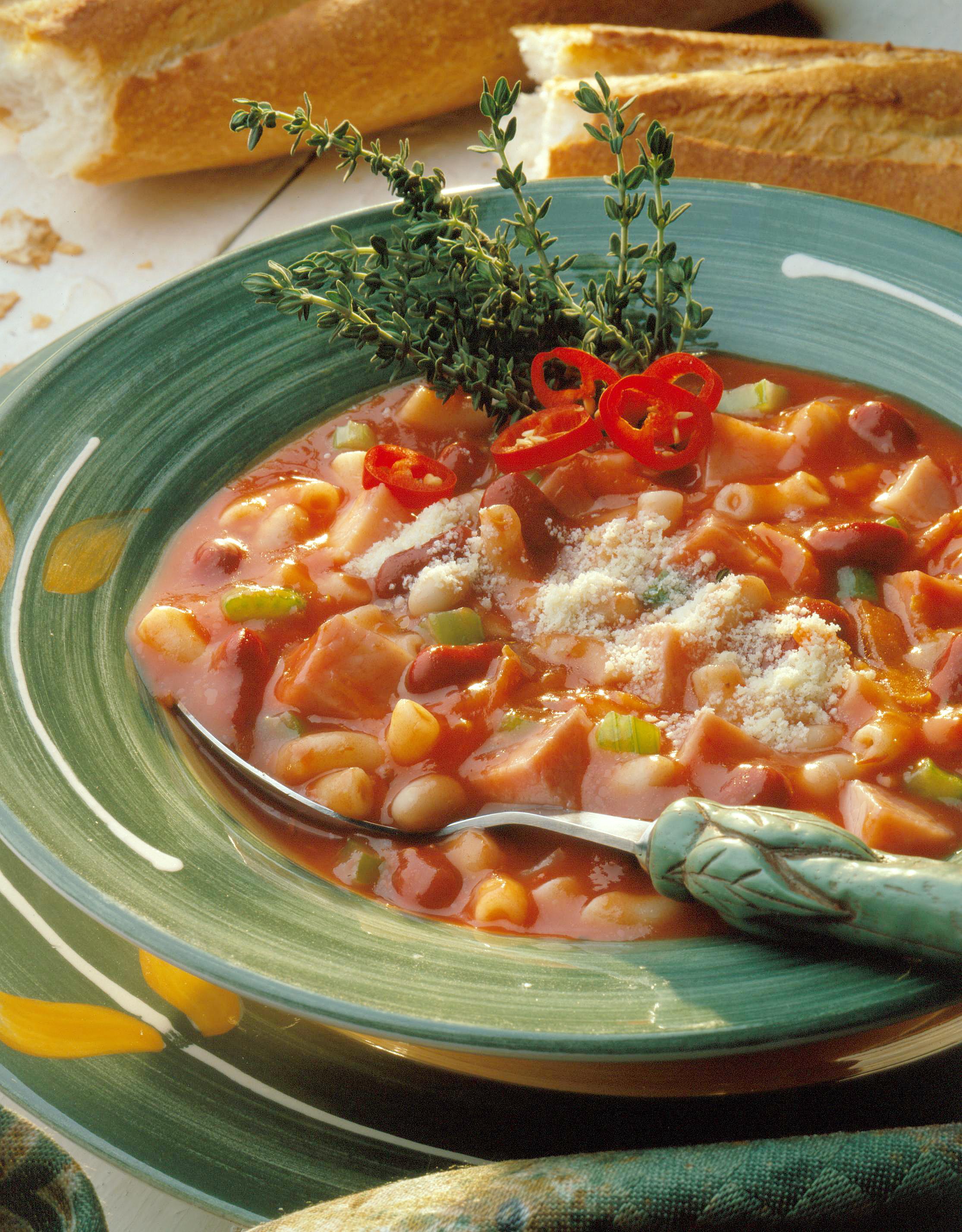 Smoky Pasta and Bean Soup - Pork Recipes - Pork Be Inspired