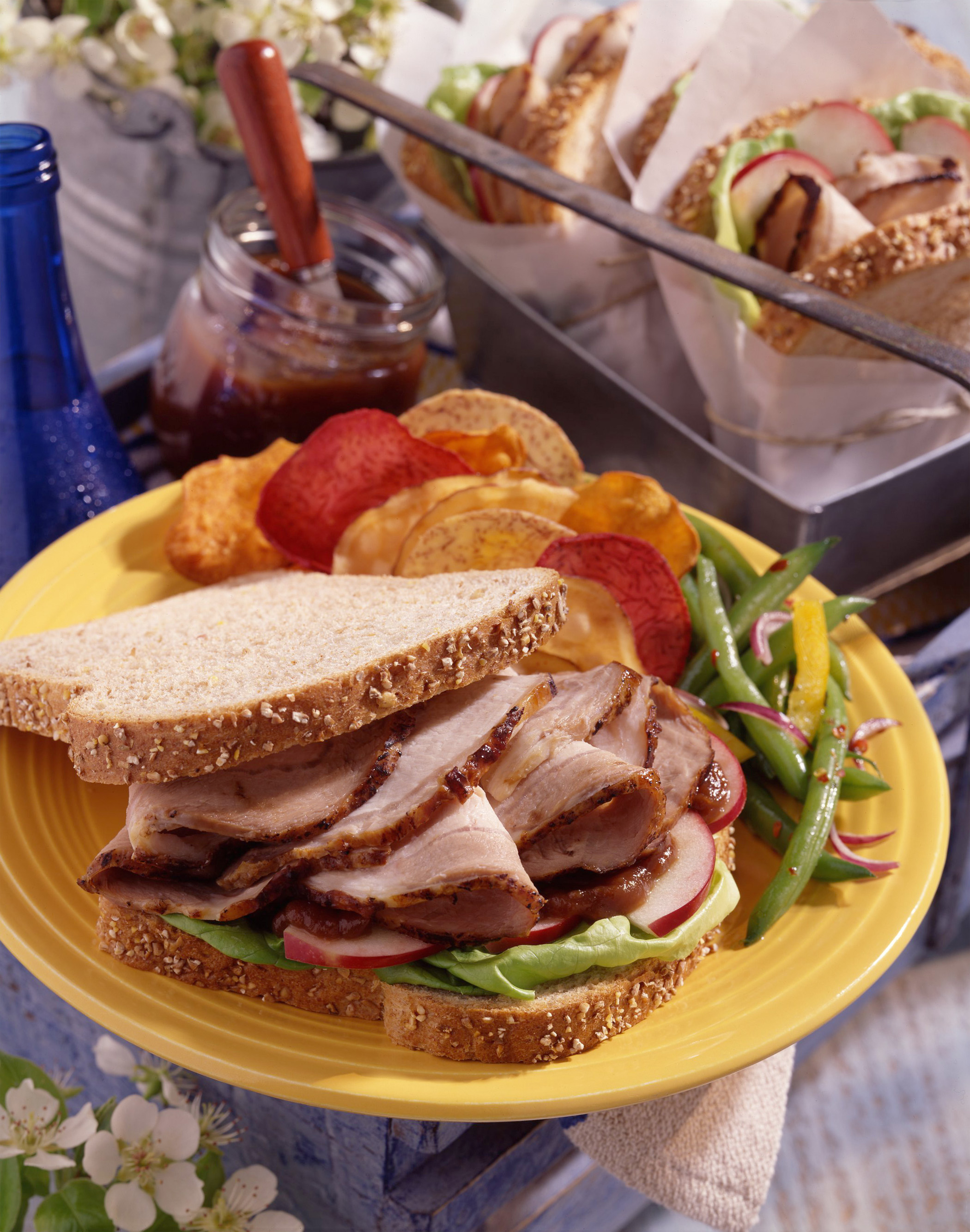 Marinated Pork and Spicy Apple Butter Sandwiches - Pork ...