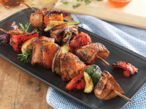 Easter Grilling pork kabobs