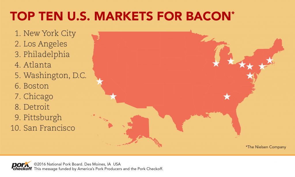top ten u.s. markets for bacon