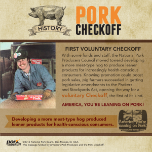 checkoff history first voluntary checkoff
