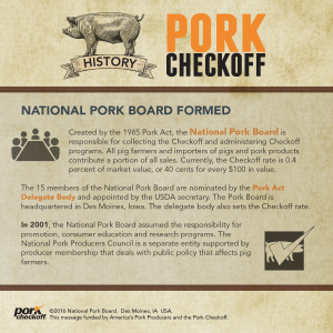 checkoff history national pork board formed