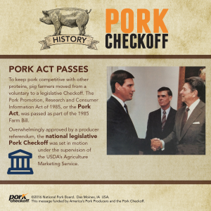 checkoff history pork act passes