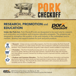 checkoff history research promotion education