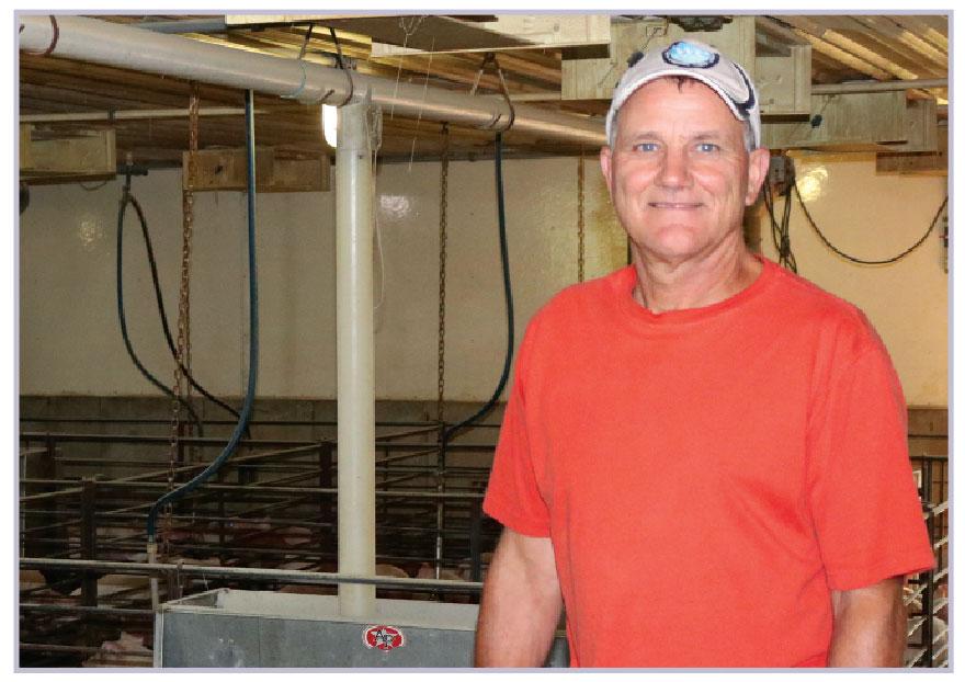 2017 pig farmer of the year finalist, Bill Luckey.